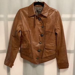 Danier leather jacket with decorative buttons